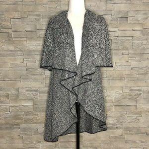 Revamped grey long sweater vest